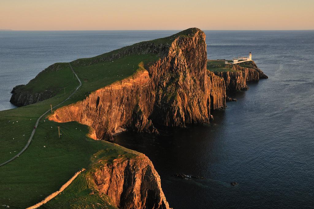 3d Wallpaper Lavender Sunset At Neist Point Lighthouse Isle Of Skye Scotland