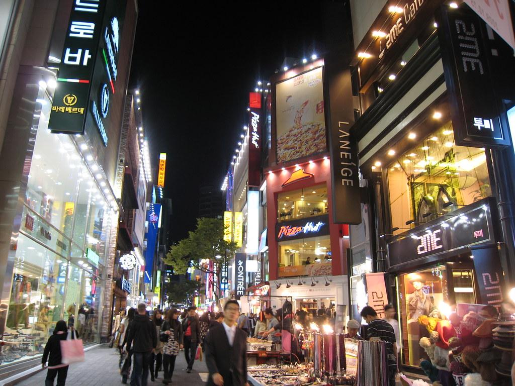 3d Street Wallpaper Myeongdong At Night 明洞 Seoul Korea 韓國 首爾 Melindachan