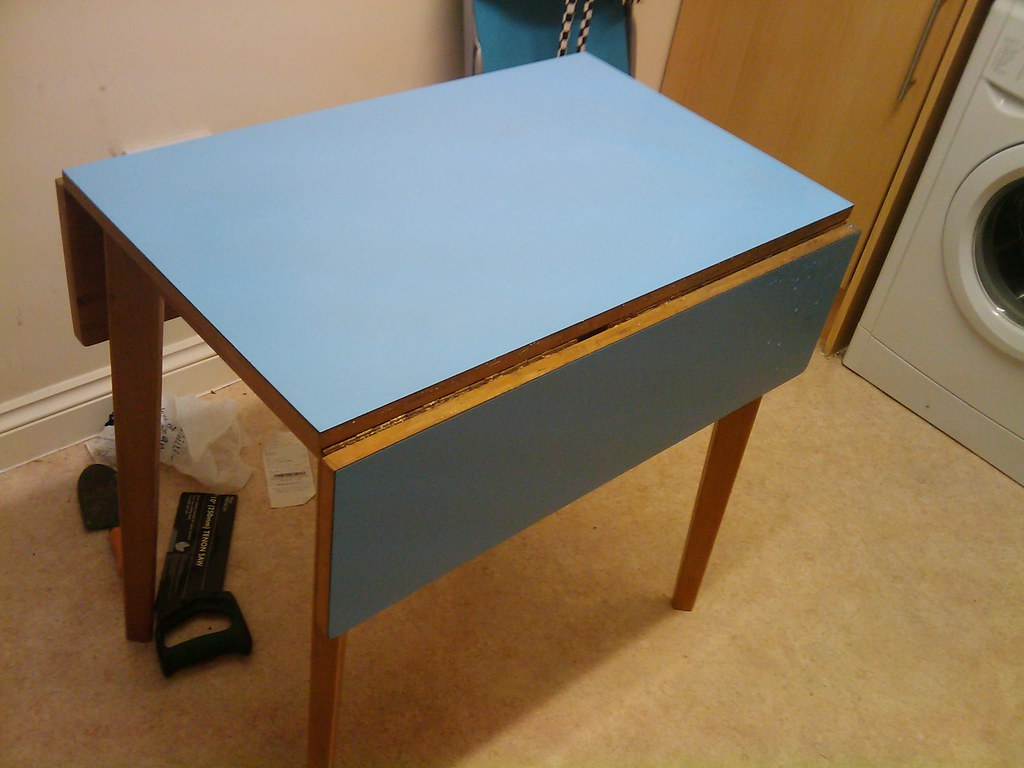 Small Fold Away Table Small Fold Away Table Blue Surfaced Small Fold Away