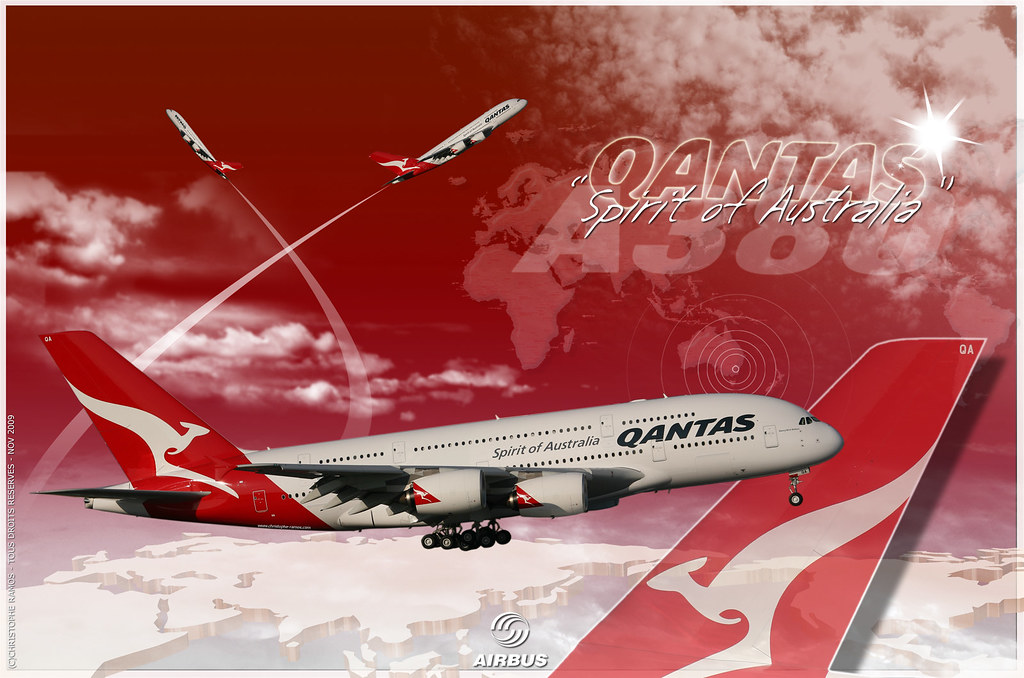 Free 3d Wallpaper And Screensavers Wallpaper A380 Qantas Quot Spirit Of Autralia Quot Wallpaper