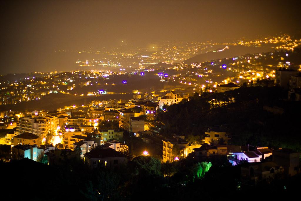 Hd Video Camera Wallpaper Beirut At Night Looking Down At The Capital City From