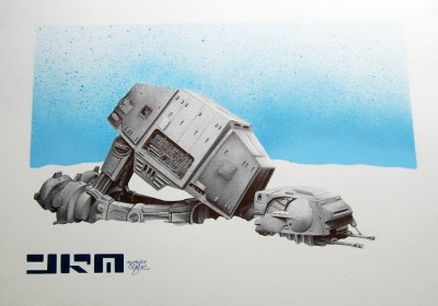 To The The Fallen (AT-AT walker) - James Mylne | ballpoint b… | Flickr