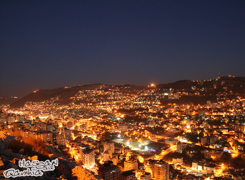 Free Hd 3d Wallpapers For Desktop Nablus City At Night The Gold City Hassan S Qamhia