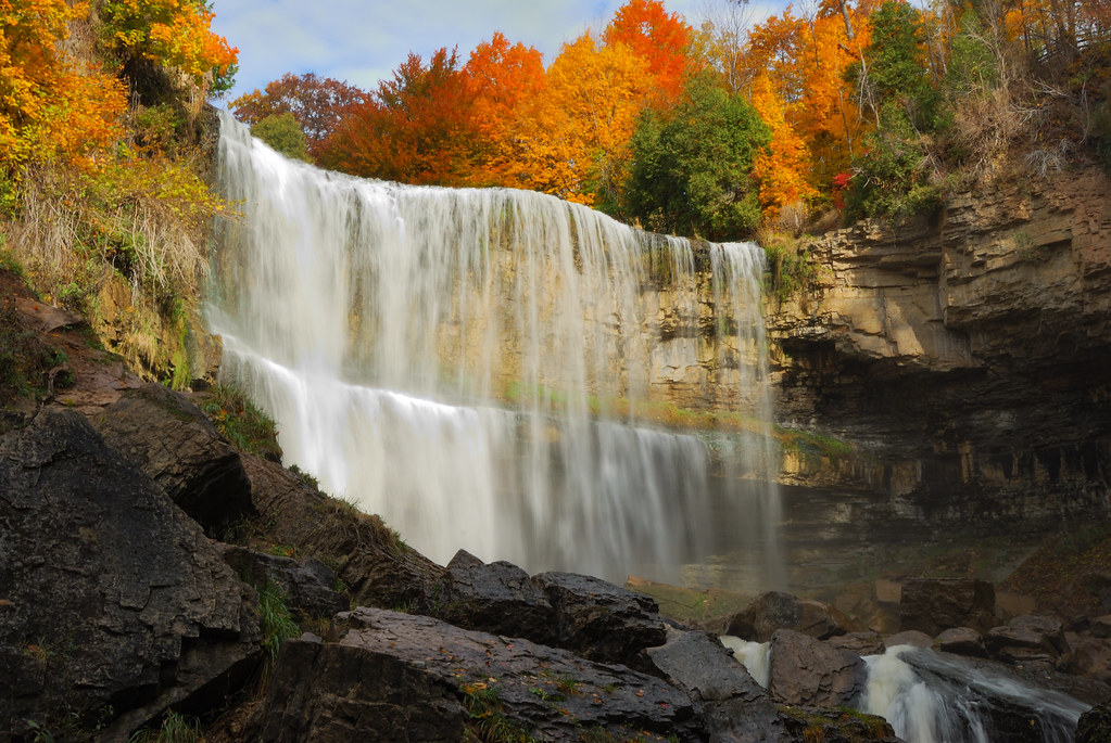 Wallpaper Fall Images Webster S Falls Greensville Ontario The Falls Catured
