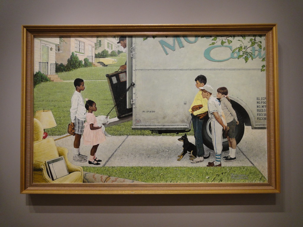 3d Forest Wallpaper Backgrounds Norman Rockwell New Kids In The Neighborhood 1967 Flickr