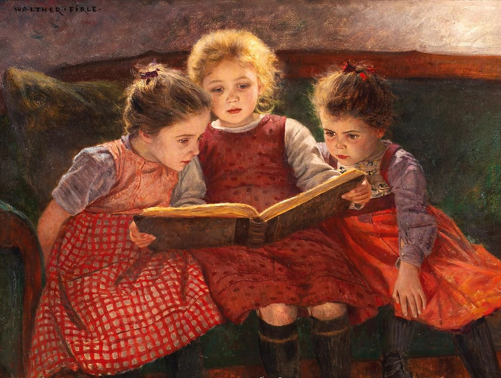 Cuadros Moma Walter Firle 1859 1929 Quotthree Reading Girls Quot Sofi