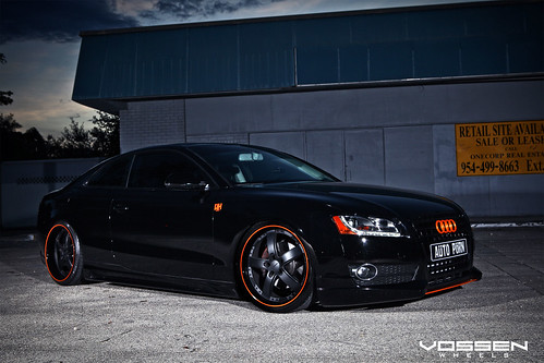 Matte Black Wallpaper Audi A5 With Custom Vossen Vvs 084 Wheels Audi A5 With