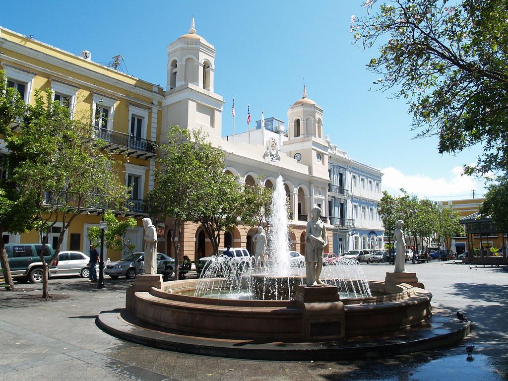 3d Fountain Wallpaper Plaza De Armas Old San Juan Plaza De Armas In Old San
