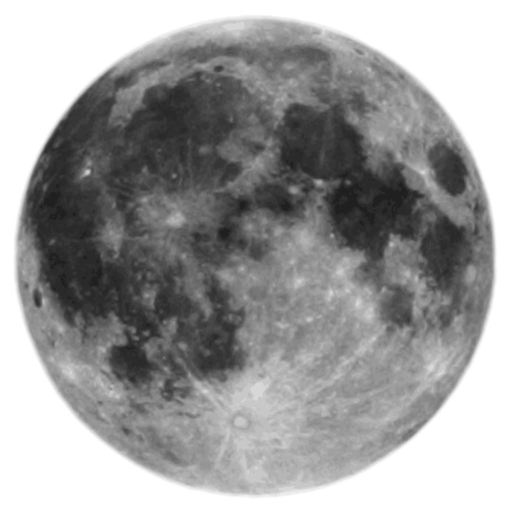Full Moon Clip Art Black And White Full Moon (on White) | The Moon Is Actually Quite Dark, It