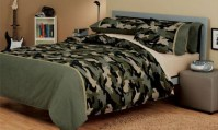 bed linen quilt doona cover sets camouflage army teen sing ...