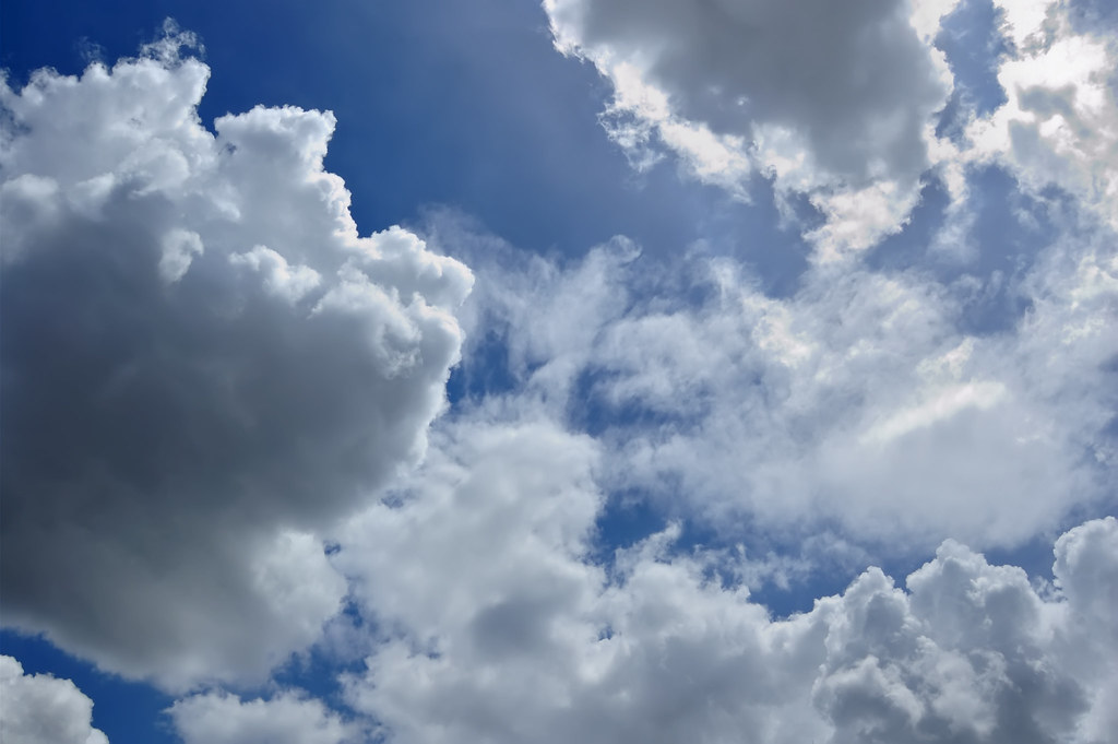 Blue Sky 3d Wallpaper Clouds On Blue Sky Clouds On The Blue Sky Good For