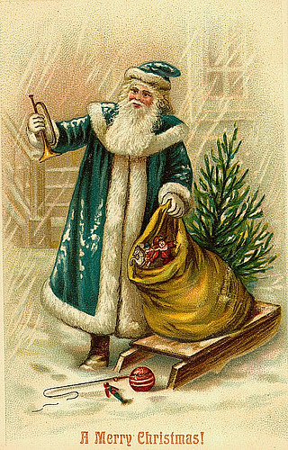 Vintage Christmas/Santa Claus Postcard Free to use in your\u2026 Flickr