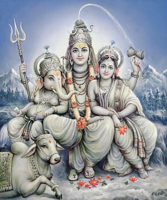 Shiv Parvati 3d Wallpaper Shiva Pariwar Check Out My Durga Maa Videos At Www