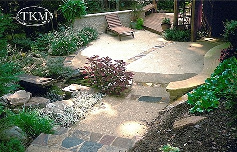 Exposed Aggregate Patio With Stone Accents Exposed Aggrega Flickr