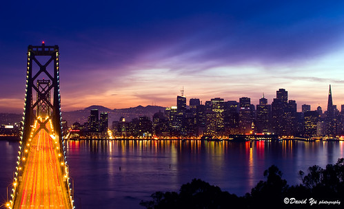 3d Wallpaper City Lights Bay Bridge With San Francisco Cityscape Night Light Flickr