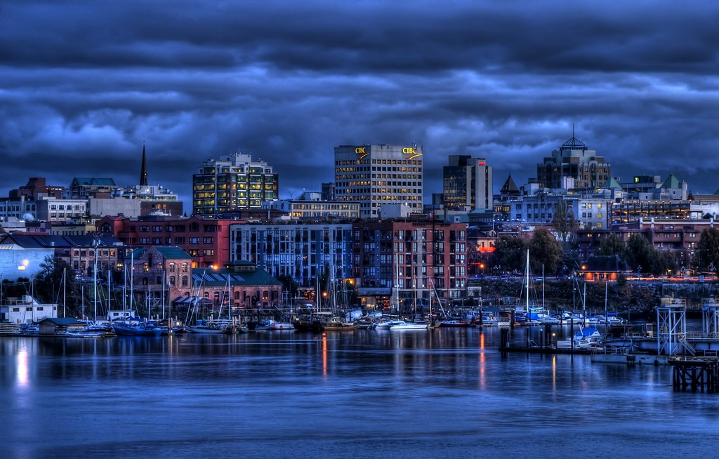 Black And Blue Wallpaper Victoria S Skyline Hdr Large On Black Press F11 For