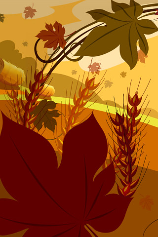 Fall Harvest Wallpaper Thanksgiving Iphone Wallpaper 13 Maple Leaf Ear The