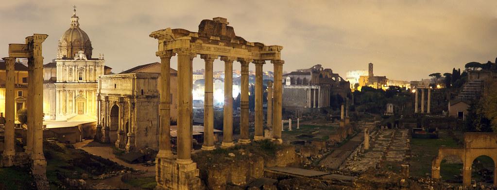 3d Wallpaper Pinterest Forum Romanum Forum Romanum At Night Empty From Its