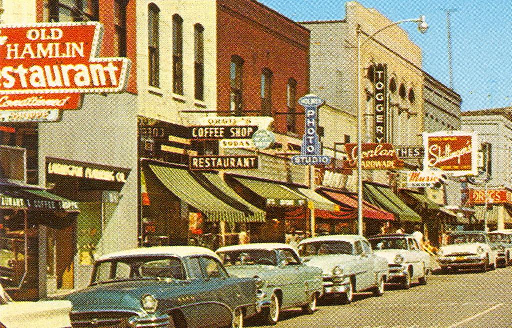3d Dept Studio Wallpaper Ludington Mi Downtown Main Street View 1950s Holmes Photo