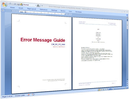 Error Messages Guide Templates For Software Testing Flickr - software manual template