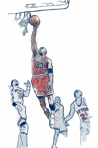 Michael Jordan 3d Wallpaper Michael Jordan Created In Sketchbook 174 Mobile Paul Vera