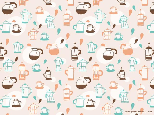 Cute Pug Wallpaper Cartoon I Love Coffee Desktop Wallpaper Gemma Correll Flickr