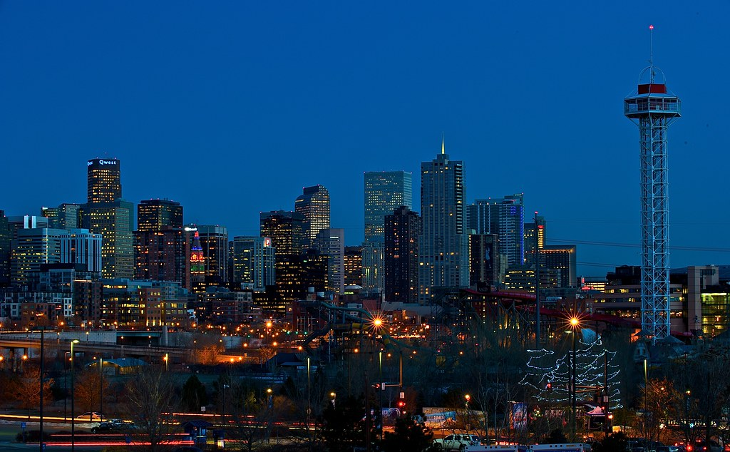 Hd Quality Wallpapers For Mobile Denver Skyline At Sunset Downtown Denver From Across I25