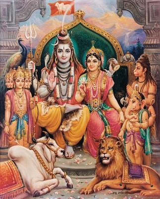 God Ganesh Hd Wallpaper Shiva Pariwar Check Out My Durga Maa Videos At Www