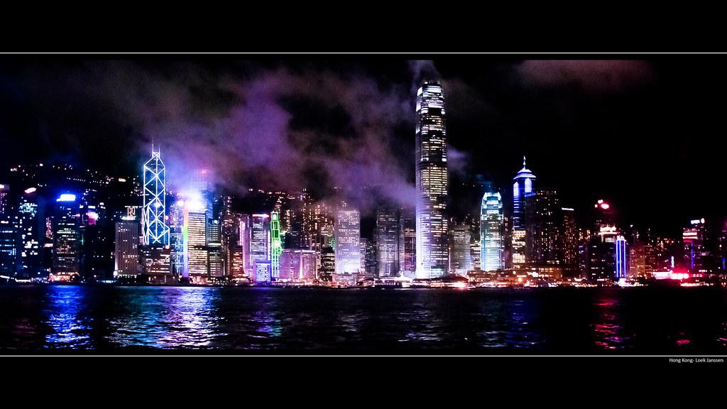 Some 3d Wallpapers Hong Kong Skyline At Night Wallpaper Desktop Background