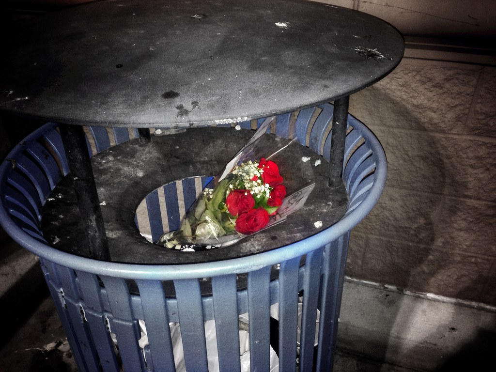 Trash Can Garbage Flowers | This Is One Of The Saddest Things I Have
