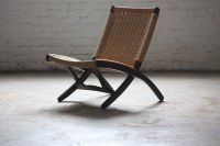 Pristine Mid Century Modern Woven Folding Rope Chair (1960 ...