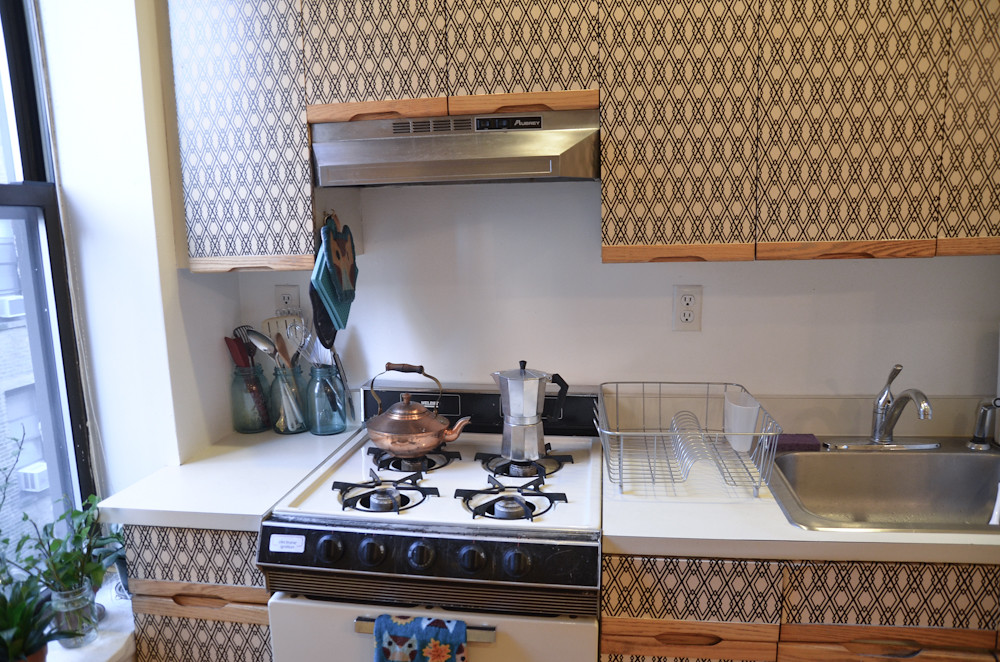 3d Wallpaper For Kitchen Diy Kitchen Cabinet Makeover For Renters See More On My