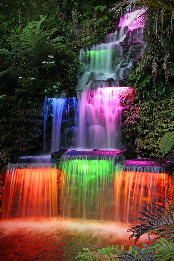 Wallpaper Of Water Fall Colour Falls Festival Of The Lights Pukekura Park New