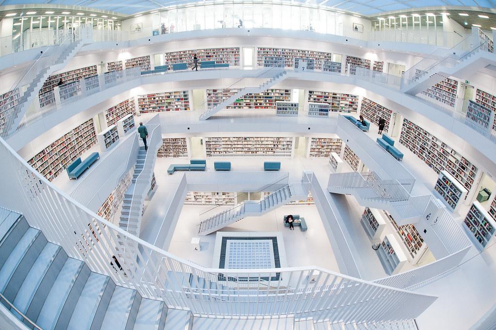 1366x768 3d Hd Wallpapers Stadtbibliothek Stuttgart State Library Stuttgart