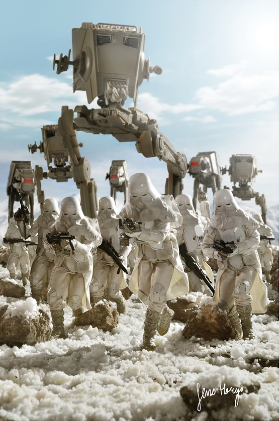 Star Wars Wallpaper 3d Snowtrooper Hoth Scene02 Seno Haryo Flickr