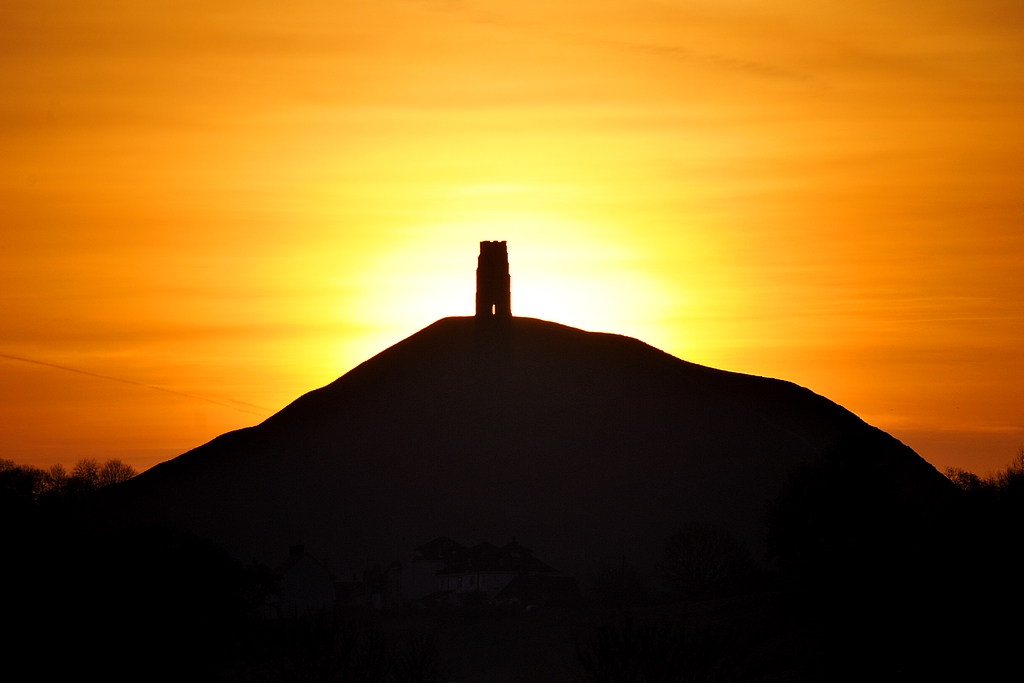 3d Colourful Wallpaper Sunrise At Glastonbury Tor An Image From A While Back