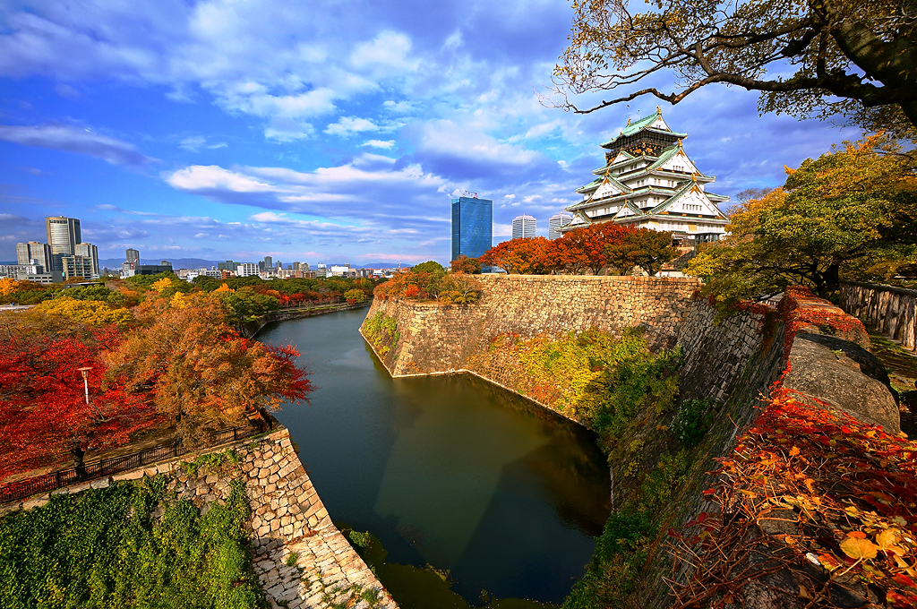 Fall Colors Desktop Wallpaper Osaka Castle 大阪城 In Autumn Osaka Castle 大阪城