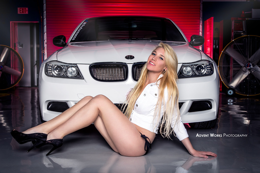 Car Girl Wallpaper Desktop Laying Out By The Bimmer Kendra With The Bmw 335i Flickr
