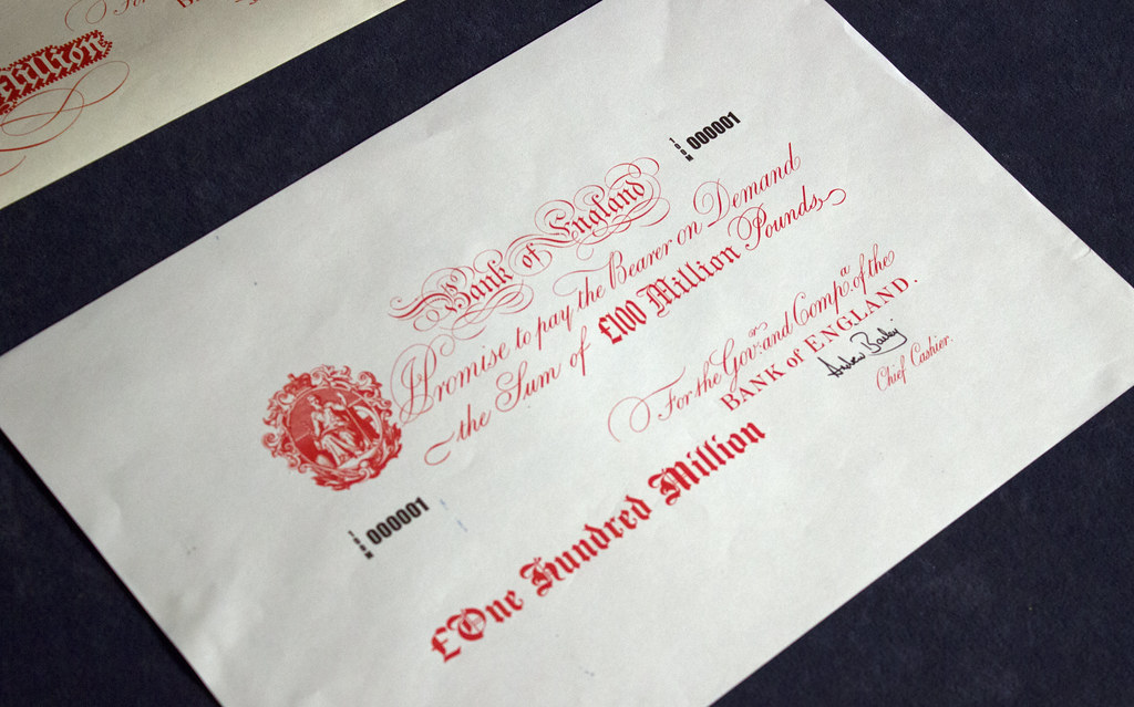 England Bank 'titan' Note, Held In The Boe Vaults, Worth £100 Million