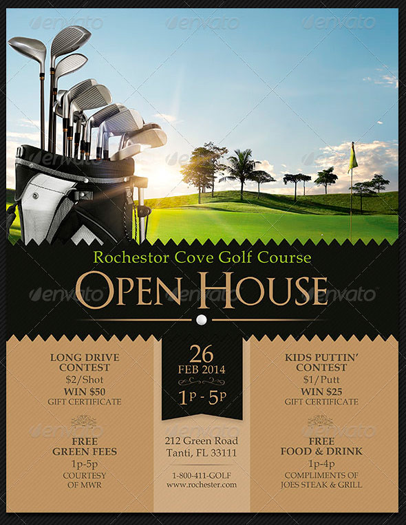 Golf Course Open House Flyer Templates The Golf Course Ope\u2026 Flickr