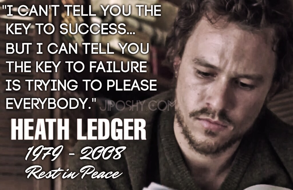 Sons Of Anarchy Quote Wallpaper Heath Ledger Success Failure Quotes Jiposhy Jiposhy Com