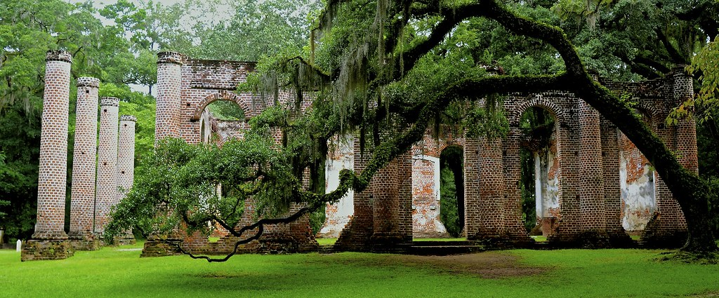 3d Patriots Wallpaper Old Sheldon Church Ruins 2 Yemassee Sc Sheldon