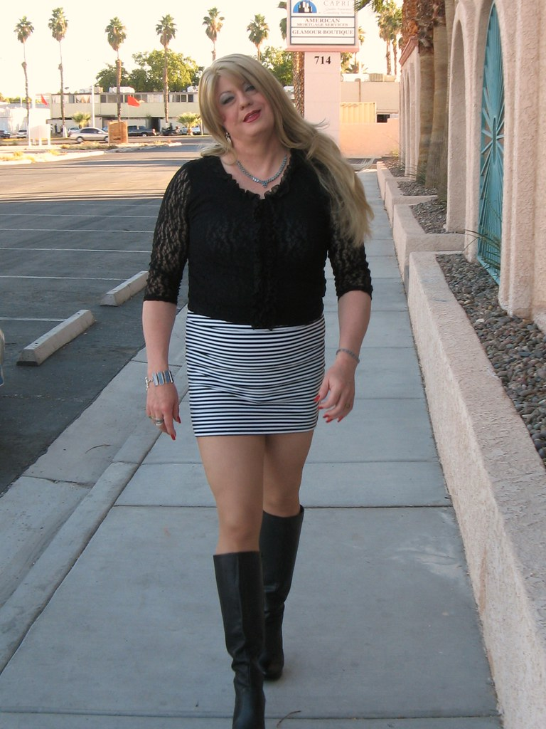 Tall Boots Long Legs Mini Skirt And Lace Top I Can Tell