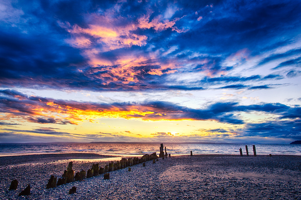 Island 3d Wallpaper Sunset At Picnic Point Park By Michael Matti I Headed Up
