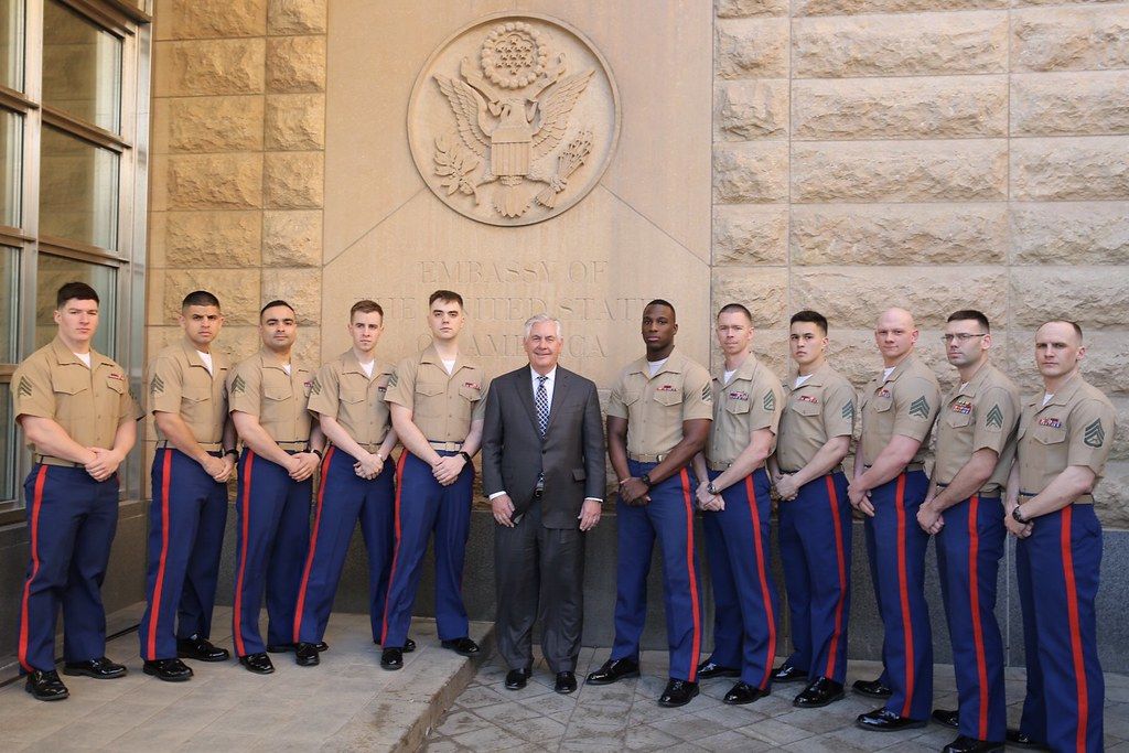 Secretary Tillerson Poses for a Photo With the Marine Secu\u2026 Flickr