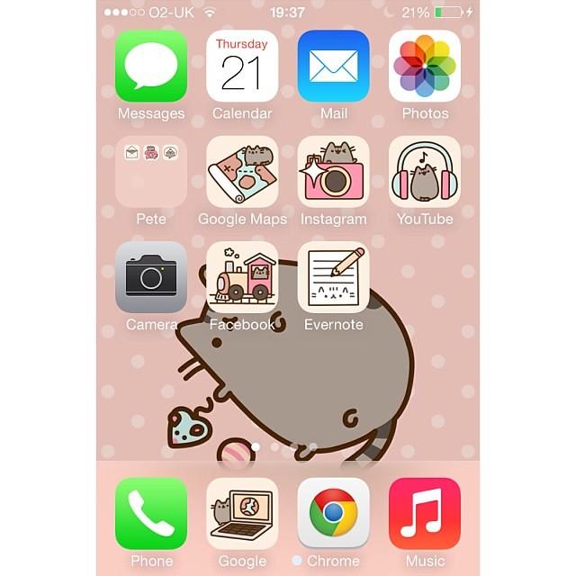 Pusheen Iphone Wallpaper Cute Pusheen On My Phone D Whitagram Pusheen Ios Iphon