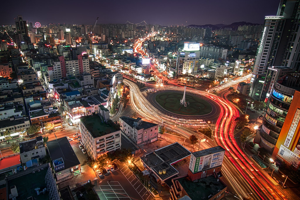 Good Night 3d Wallpaper Gonguptop Rotary Ulsan South Korea A Sky View Of The
