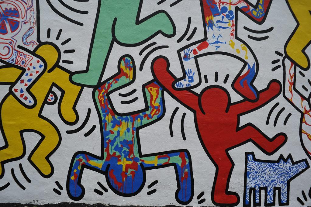 3d Street Art Graffiti Wallpaper Haring Garden This Garden In Philadelphia Is A Tribute