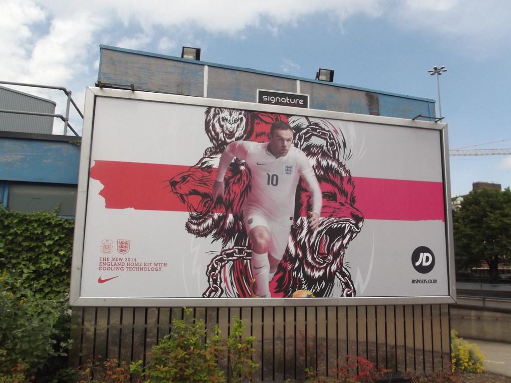 3d Sports Wallpaper England World Cup 2014 Billboard Corporation Street Bir