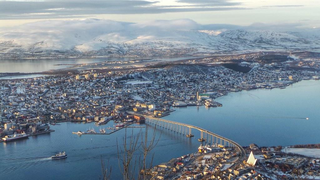 3d Scenery Wallpaper Vistas Desde El Telef 233 Rico De Fjellheisen De Tromso Norueg